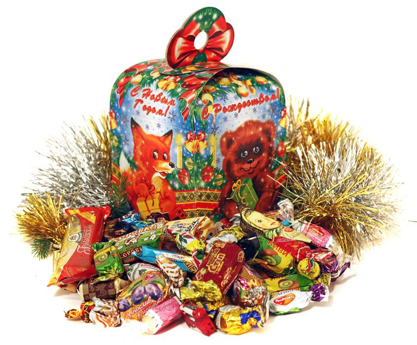Картинки новогодних подарков и конфет