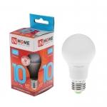 Лампа светодиодная LED-A60-VC 10 Вт 230 В Е27  4000К 900 Лм IN home