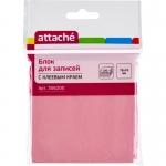 Блок-кубик Attache с клеевым краем 76*76 розовый 100 л