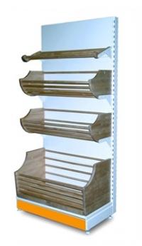 Стеллаж хлебный пристенный 1200Х500Х2000