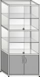 Витрина торговая со стеклянными дверцами