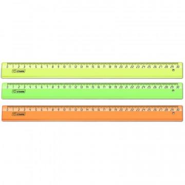 Линейка 30 см прозр. NEON Cristal цвет в ассортименте
