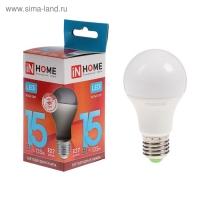 Лампа светодиодная LED-A60-VC 15 Вт 230 В Е27  4000К 1350 Лм IN home