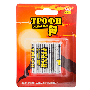 Батарейка ТРОФИ Basic Alkaline щелочная LR6-24/LR03-24