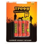 Батарейка ТРОФИ SUPER HEAVY DUTY солевая R03-4S/ R06-4S